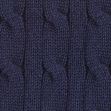 Ralph Lauren Boys: Hunter Navy Ralph Lauren Childrenswear Cable-Knit Sweater Vest Toddler Boys