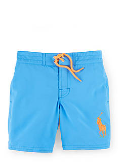 Ralph Lauren Childrenswear Solid Boardshort Toddler Boys