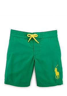 Ralph Lauren Childrenswear Solid Boardshort Toddler Boys