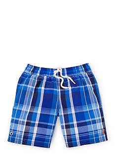 Ralph Lauren Childrenswear Plaid Boardshort Toddler Boys