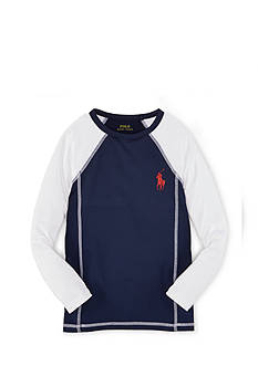 Ralph Lauren Childrenswear 2RAGLAN RASHG COVERUP NEW NVY MULT