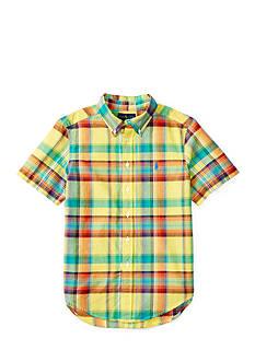 Ralph Lauren Childrenswear Madras Plaid Shirt Toddler Boys