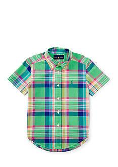 Ralph Lauren Childrenswear Madras Short Sleeve Toddler Boys