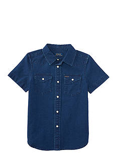 Ralph Lauren Childrenswear Denim Ford Western Shirt Toddler Boy