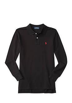 Ralph Lauren Childrenswear Cotton Mesh Long-Sleeve Polo Toddler Boys