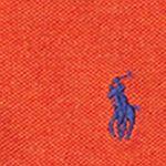 Ralph Lauren Boys: Varsity Orange Heather Ralph Lauren Childrenswear Cotton Mesh Long-Sleeve Polo Toddler Boys