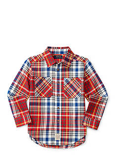 Ralph Lauren Childrenswear Plaid Button Down Shirt Toddler Boy