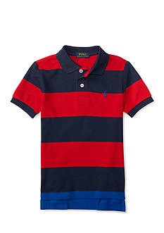 Ralph Lauren Childrenswear Mesh Stripe Polo - Toddler Boy
