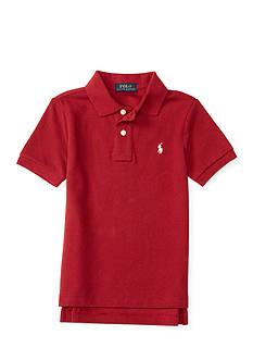 Ralph Lauren Childrenswear Solid Mesh College Shirt - Toddler Boy