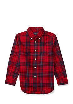 Ralph Lauren Childrenswear Poplin Long Sleeve Button Down Top Toddler Boys
