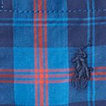 Ralph Lauren Boys: Royal/Navy/Multi Ralph Lauren Childrenswear Poplin Long Sleeve Button Down Top Toddler Boys