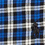 Ralph Lauren Boys: Royal/Black Multi Ralph Lauren Childrenswear Cotton Twill Shirt Toddler Boys