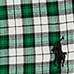 Ralph Lauren Boys: Green/Cream Multi Ralph Lauren Childrenswear Cotton Twill Shirt Toddler Boys