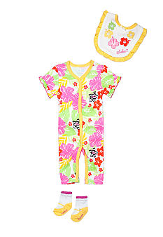 Nursery Rhyme Floral Coverall Set
