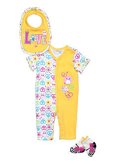 Nursery Rhyme Peace Coverall Set