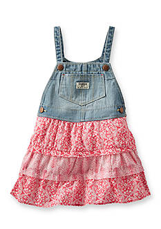 OshKosh B'gosh Red Floral Denim Dress