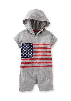 OshKosh B'gosh Grey Flag Hooded Shortall