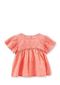 OshKosh B'gosh Lace Flutter-Sleeve Top