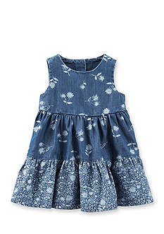 OshKosh B'gosh 2-Piece Floral Printed Chambray Dress and Bloomer Set
