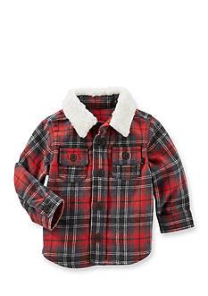 OshKosh B'gosh Jersey-Lined Plaid Shirt Jacket