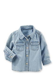 OshKosh B'gosh 2-Pocket Button-Front Denim Top