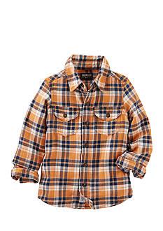 OshKosh B'gosh 2-Pocket Plaid Button-Front Shirt Toddler Boys