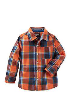 OshKosh B'gosh Plaid Woven Shirt Toddler Boys