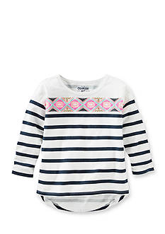 OshKosh B'gosh Printed Stripe High Low Top Toddler Girls