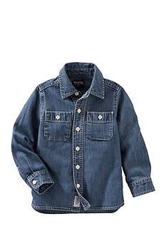 OshKosh B'gosh Long Sleeve 2-Pocket Button-Front Shirt Toddler Boys