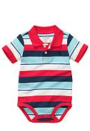 OshKosh B'gosh® Stripe Polo Bodysuit