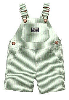 OshKosh B'gosh Green Seersucker Shortalls