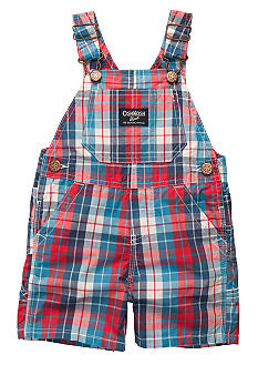 OshKosh B'gosh Red Plaid Oxford Shortalls