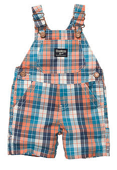 OshKosh B'gosh Plaid Oxford Shortalls