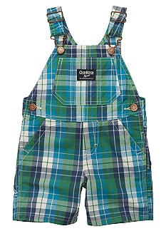 OshKosh B'gosh Green Plaid Oxford Shortalls