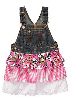 OshKosh B'gosh Mixed Print Denim Jumper Dress