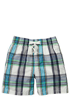 OshKosh B'gosh Blue and White Plaid Poplin Shorts Toddler Boy