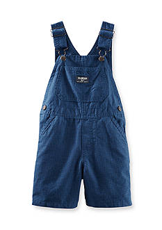 OshKosh B'gosh Check Shortalls Toddler Boys