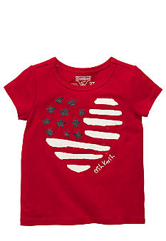 OshKosh B'gosh Heart Flag Tee Toddler Girls