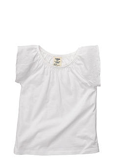 OshKosh B'gosh White Flutter Sleeve Top Toddler Girl