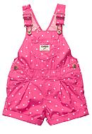OshKosh B'gosh® Polka Dot Shortalls Toddler Girls