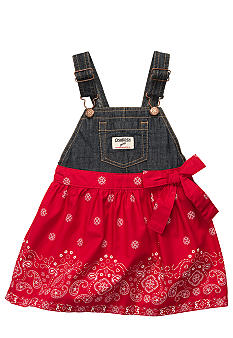 OshKosh B'gosh Bandana Print Jumper Dress Toddler Girls
