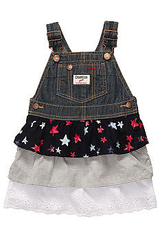 OshKosh B'gosh Denim Jumper Dress Toddler Girls