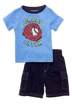 Kids Headquarters Baseball 2-Piece Short Set