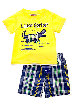 Kids Headquarters Gator 2-Piece Short Set