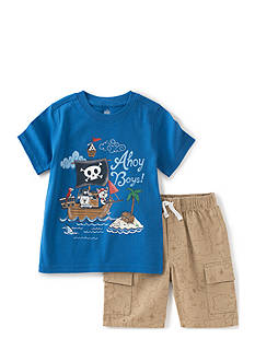 Kids Headquarters 2-Piece Pirate Shirt and Cargo Short Set