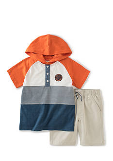 Kids Headquarters 2-Piece Hooded Top and Shorts Set