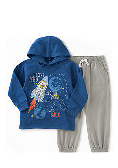 Kids Headquarters 2-piece Fleece Hoodie and Pants Set Toddler Boys