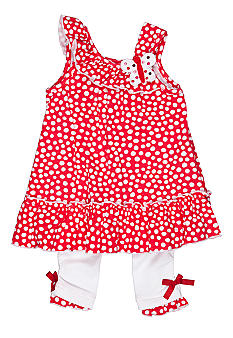 Kids Headquarters Butterfly Dot Capri Legging Set