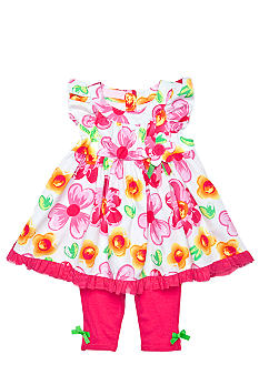 Kids Headquarters 2-Piece Floral Capri Set