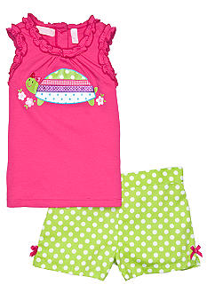 Kids Headquarters Dot Turtle Short Set Toddler Girls
